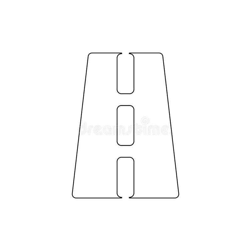 Drogowa perspektywiczna kontur ikona Znaki i symbole mog? u?ywa? dla sieci, logo, mobilny app, UI, UX ilustracja wektor
