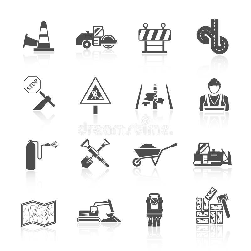 Drogowa pracownik ikona royalty ilustracja