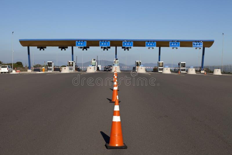 drogowa punkt kontrolny opłata drogowa zdjęcie stock