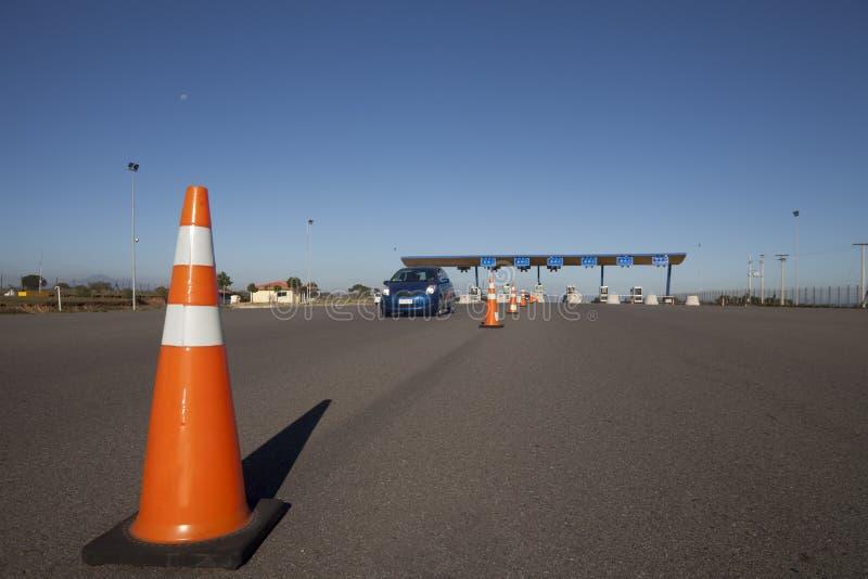 drogowa punkt kontrolny opłata drogowa zdjęcie royalty free