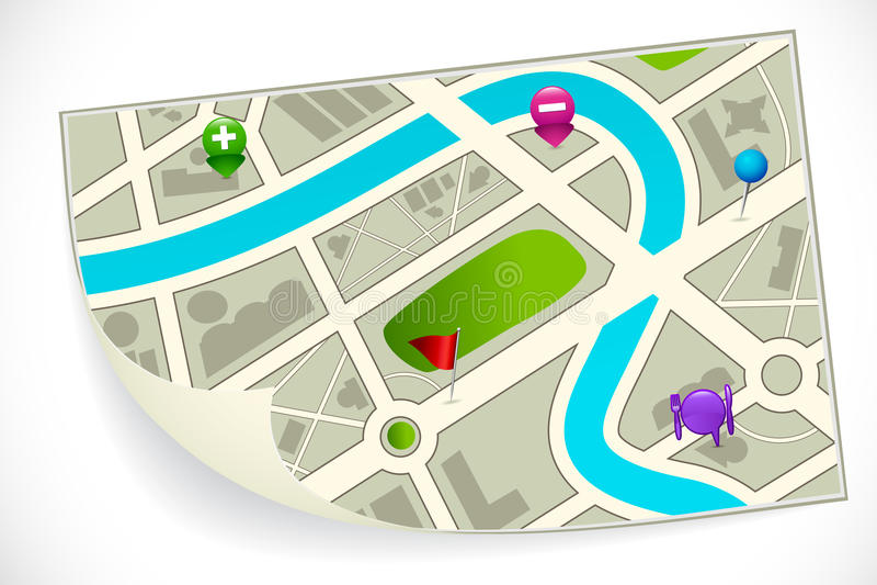 Drogowa trasy mapa royalty ilustracja