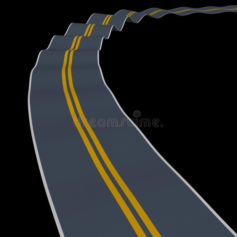 drogowa wędrówka ilustracji