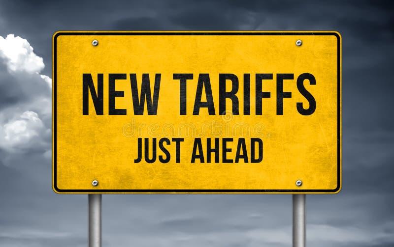 Drogowa wiadomość - nowe taryfy właśnie naprzód obraz stock