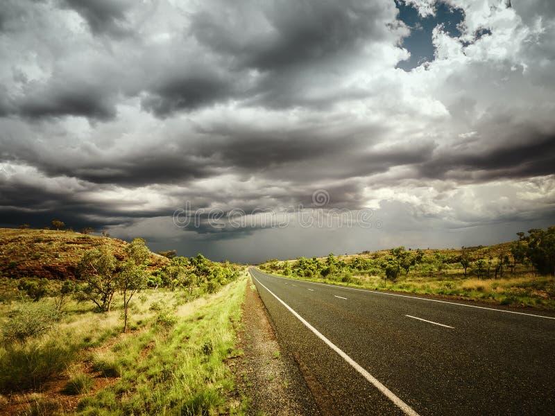 Drogowa zła pogoda zdjęcie royalty free