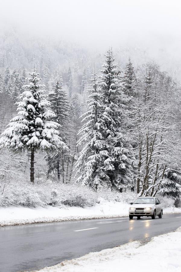 drogowa zima zdjęcie stock
