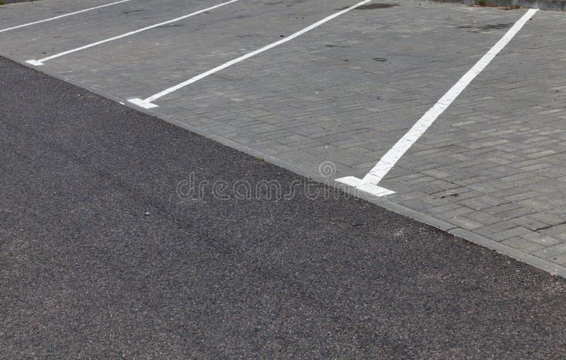 drogowego ocechowania parking zdjęcia stock