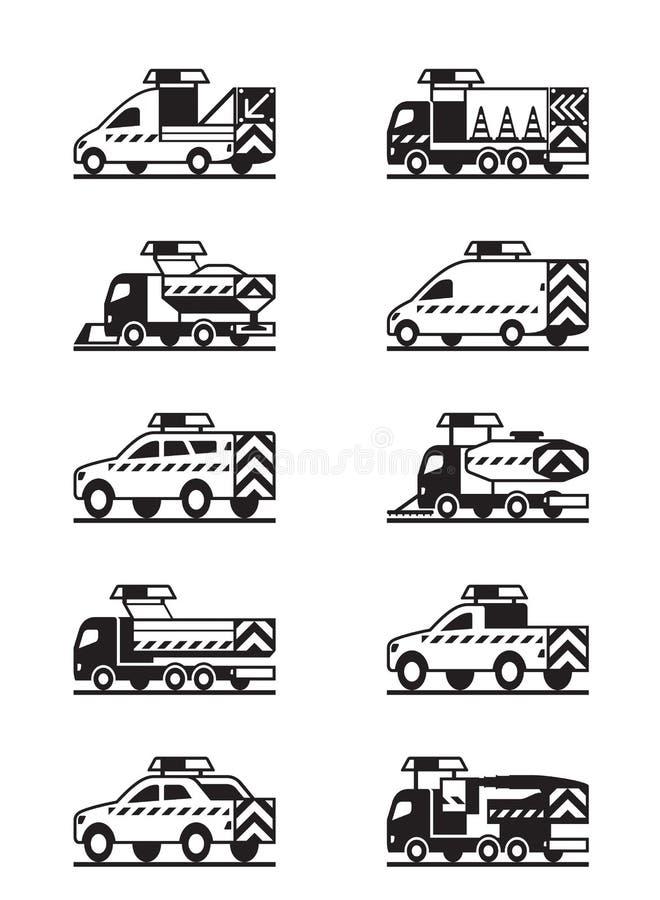 Drogowego utrzymania pojazdy royalty ilustracja