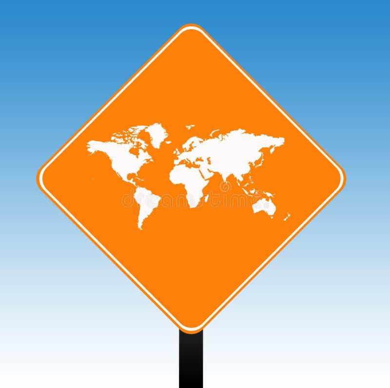 drogowego znaka świat royalty ilustracja