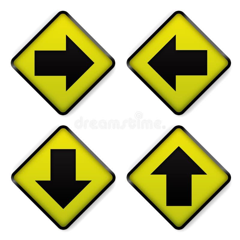 drogowego znaka kolor żółty royalty ilustracja