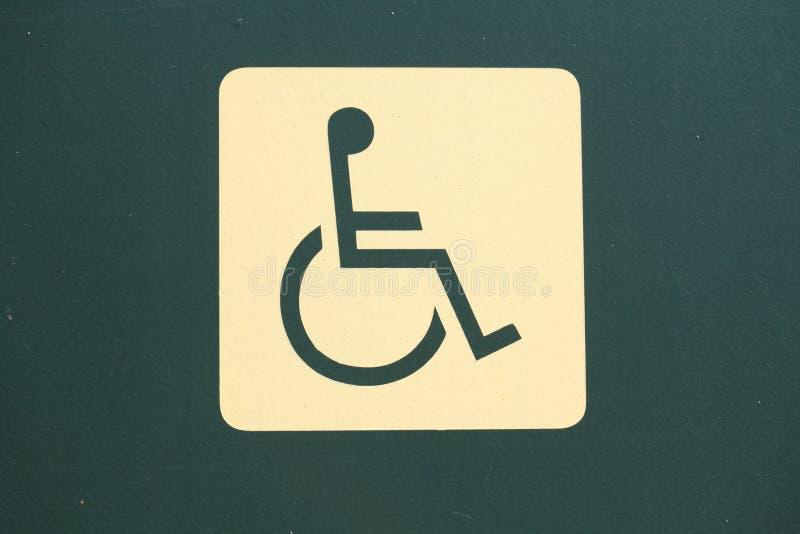 Drogowego znaka Niepełnosprawna osoba obraz stock