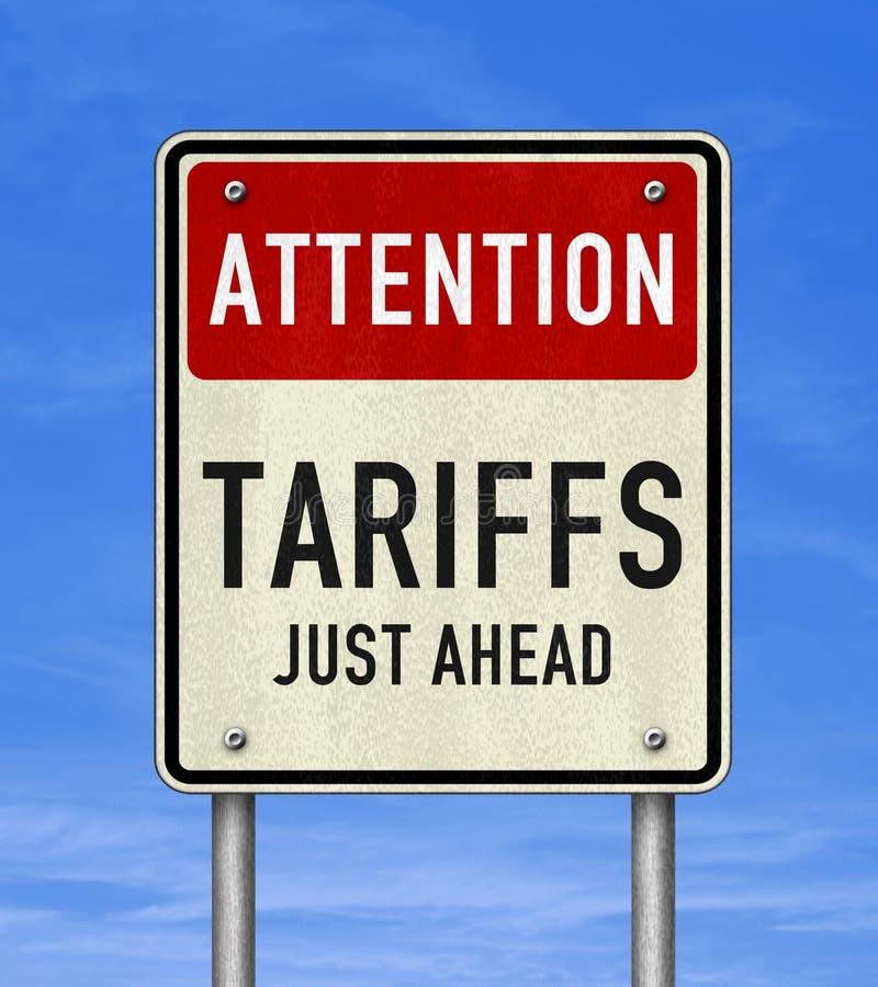 Drogowego znaka wiadomość - taryfy właśnie naprzód zdjęcia stock
