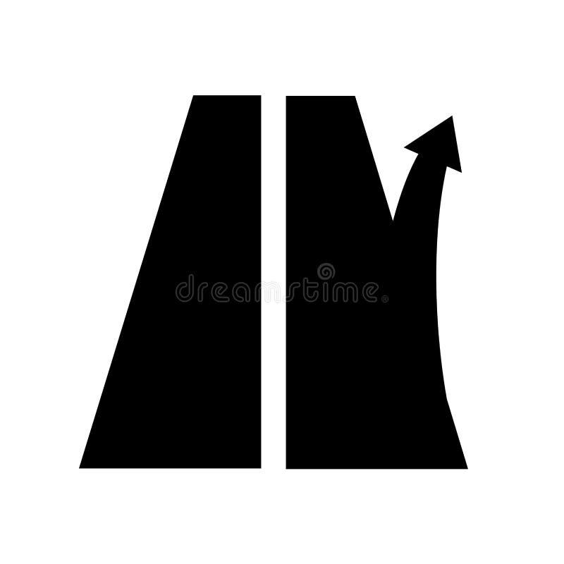 Drogowego znaka wyjście od autostrady prawda strzała Autostrada lub ślad ilustracja wektor