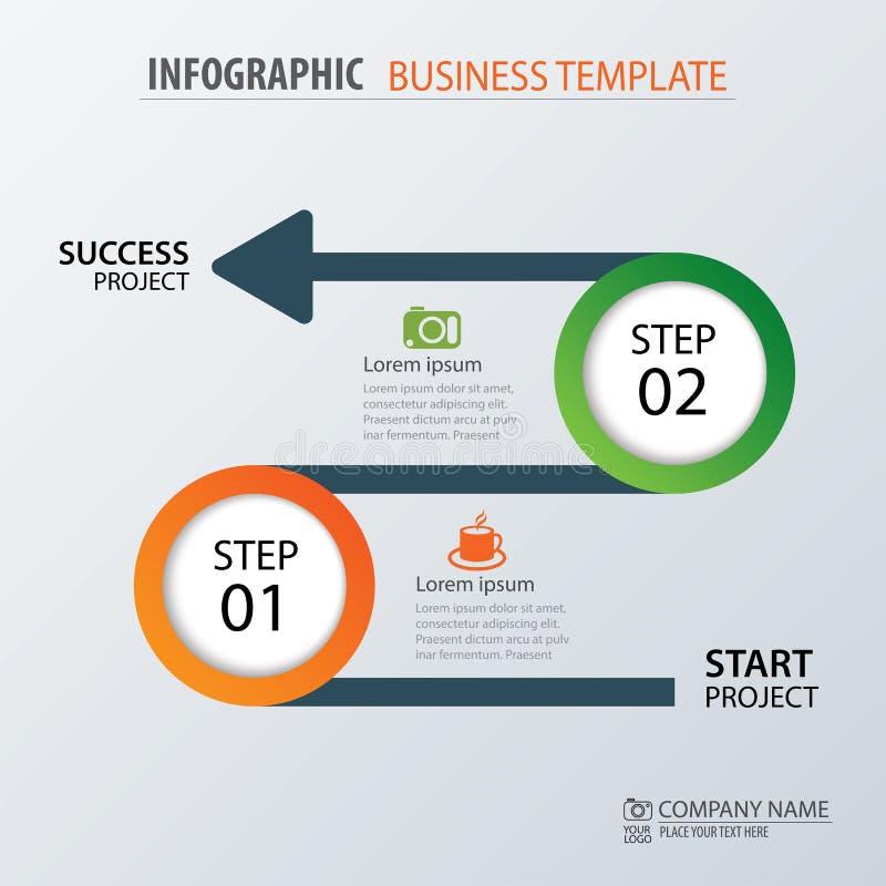 Drogowej biznesowej linii czasu infographic szablon również zwrócić corel ilustracji wektora ilustracji
