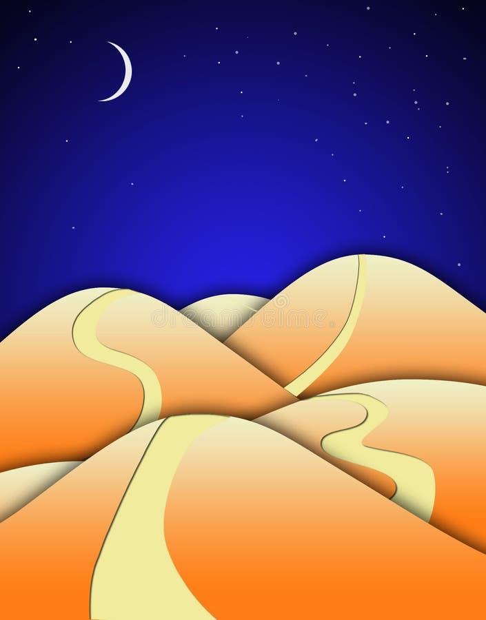drogowi pustynni wzgórza ilustracji
