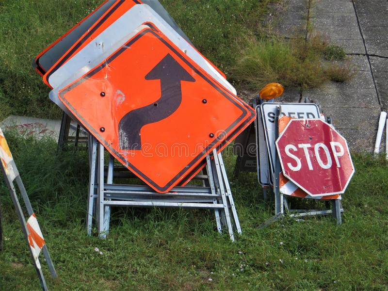 Drogowi znaki, Tampa, Floryda fotografia stock