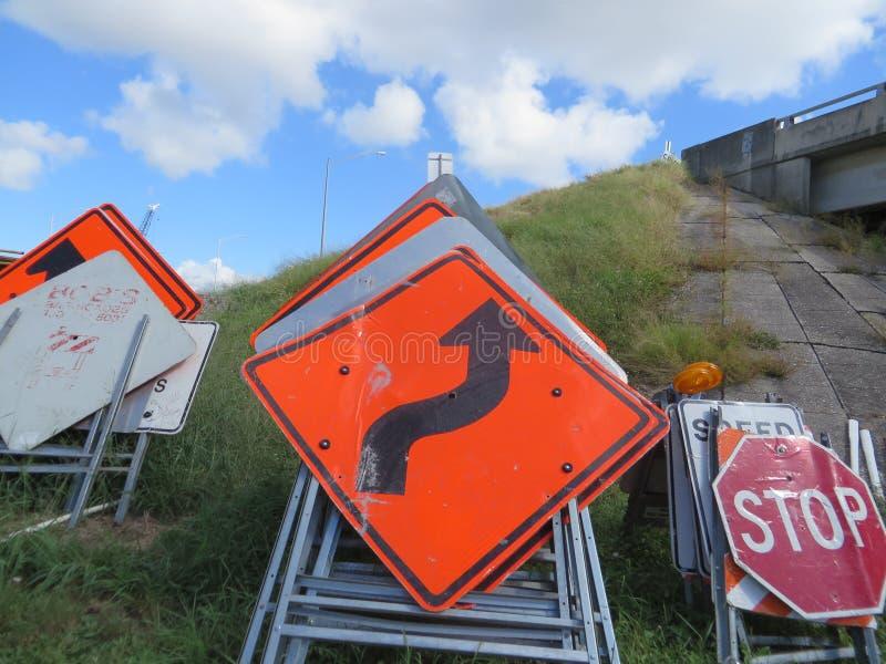 Drogowi znaki, Tampa, Floryda obrazy royalty free