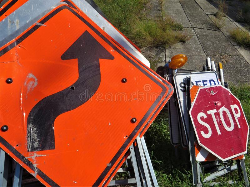 Drogowi znaki, Tampa, Floryda obrazy stock
