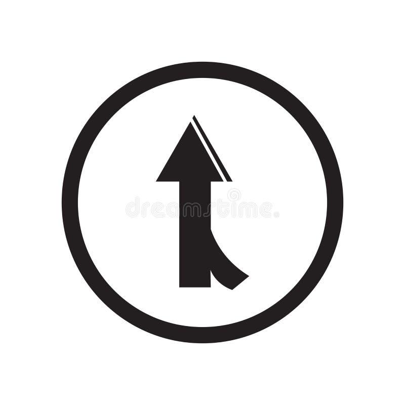Drogowy łączy ikona wektoru znak i symbol odizolowywający na białym tle, Drogowy łączy logo pojęcie ilustracji