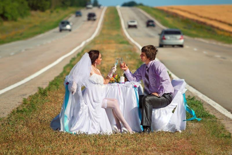 drogowy ślub obraz stock