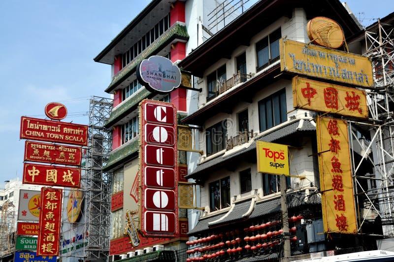 drogowy Bangkok yaowarat Chinatown Thailand obrazy stock