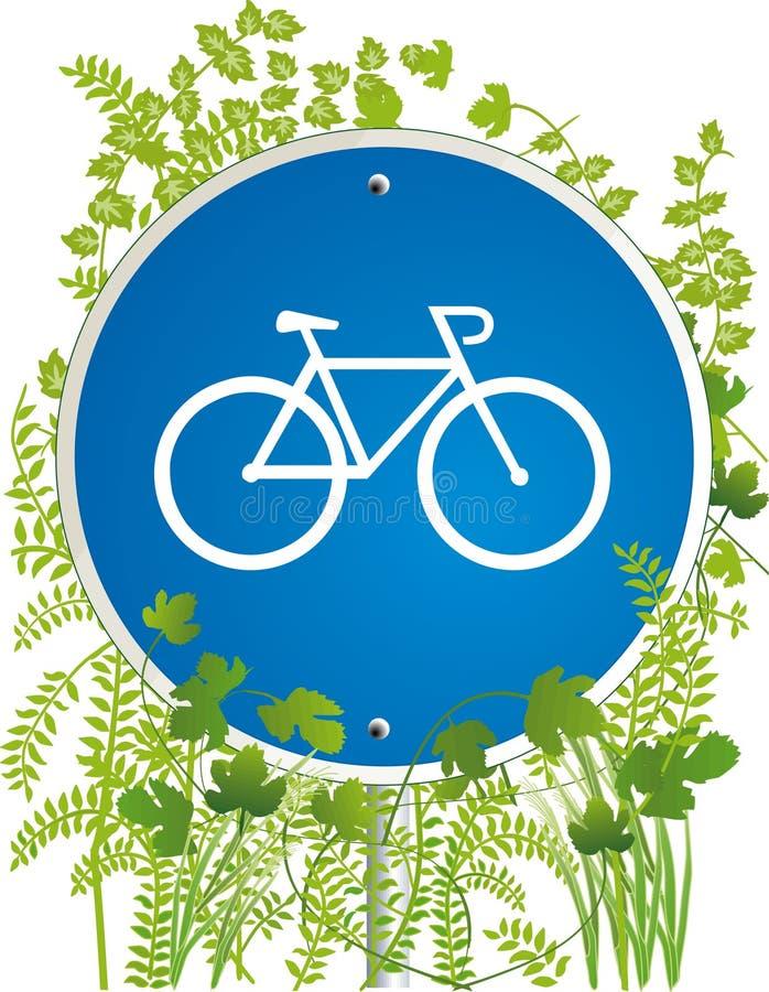 drogowy bicyclist znak ilustracji