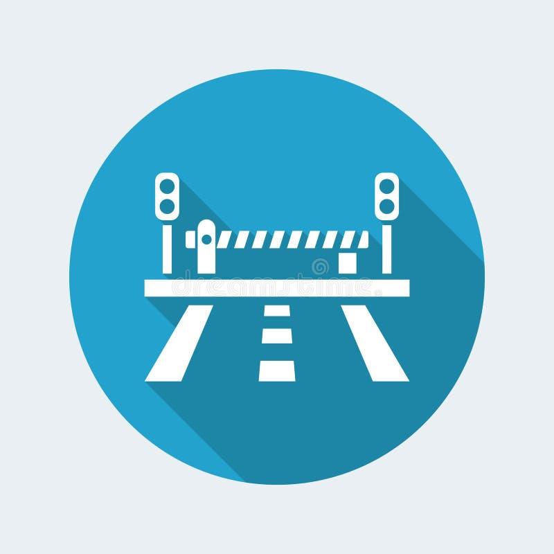Drogowy i równy skrzyżowanie ikony ilustracja wektor