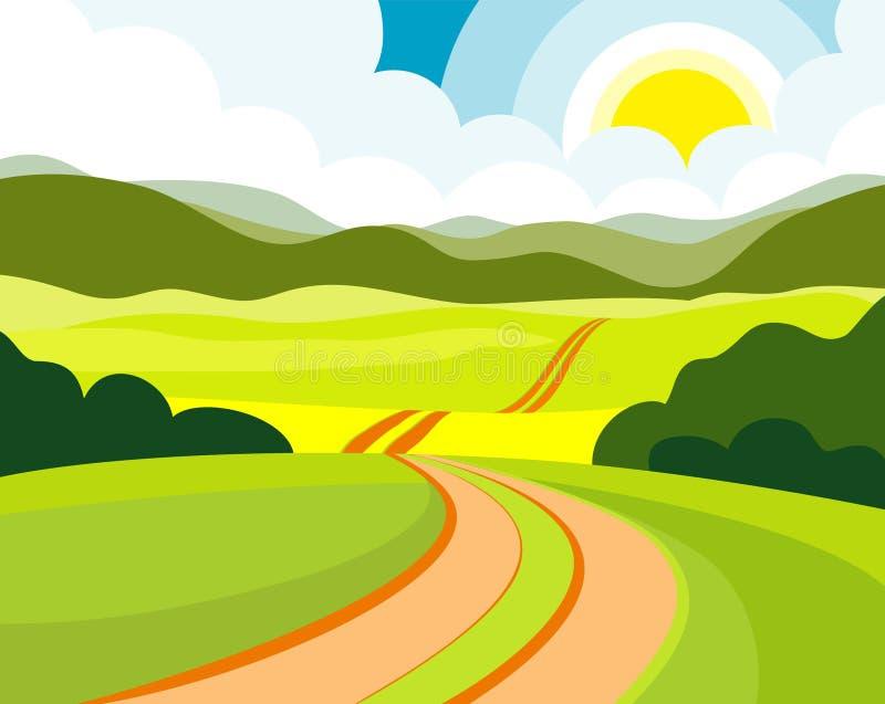 drogowy lato royalty ilustracja