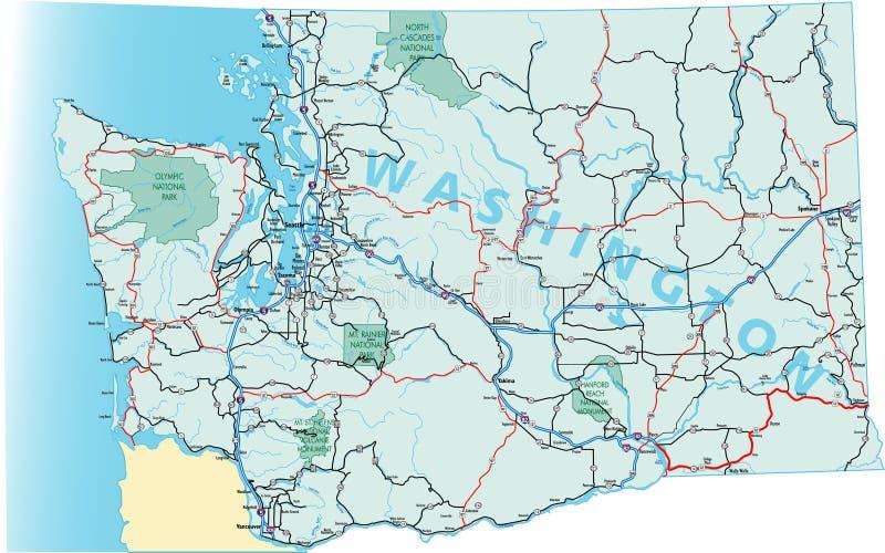 drogowy mapa stan Washington royalty ilustracja