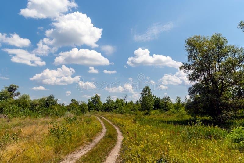drogowy na krymie stepowy Ukraine fotografia royalty free