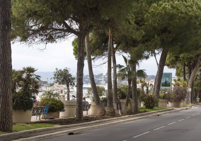 Drogowy okładzinowy Cannes croisette obraz stock