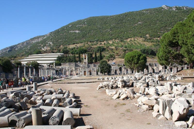 Drogowy prowadzić Ephesus stadium obrazy stock