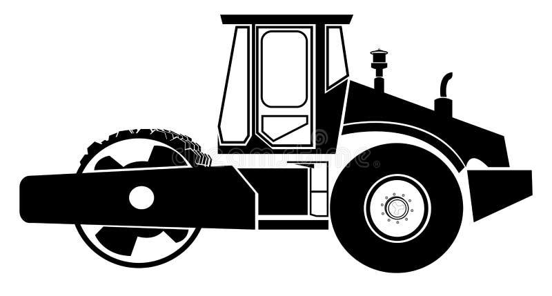 drogowy rolownik ilustracja wektor
