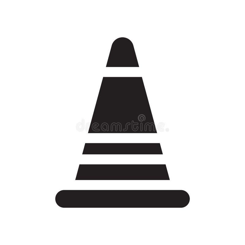 Drogowy Stopper ikony wektor odizolowywający na białym tle, Drogowa przerwa ilustracja wektor
