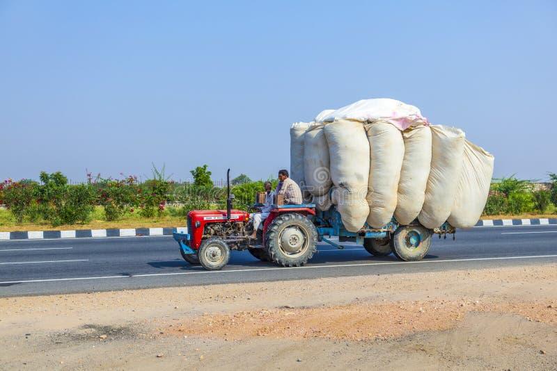 Drogowy transport w India obrazy stock