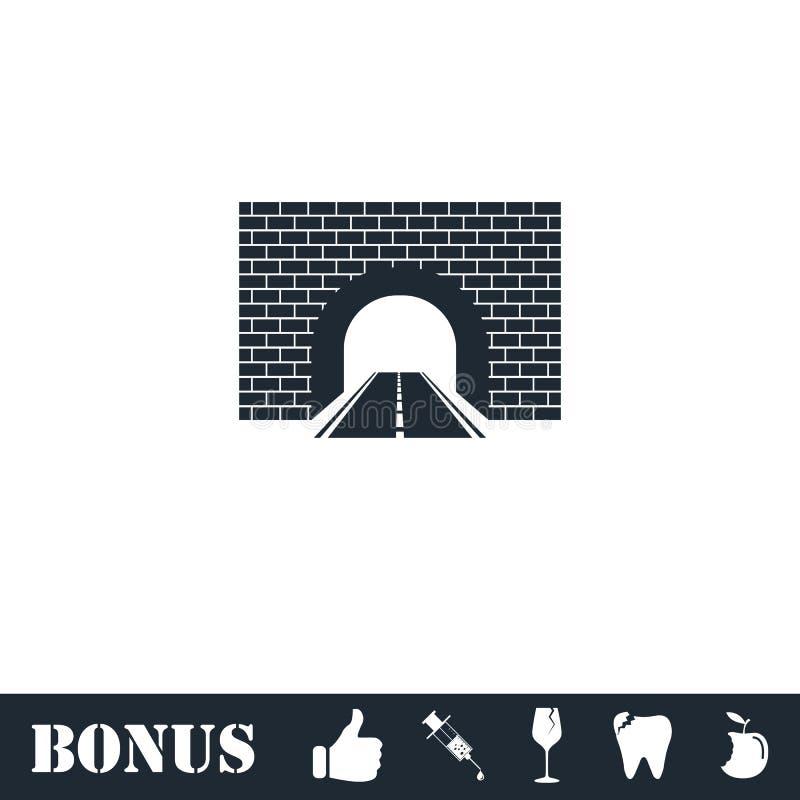 Drogowy tunelowy ikony mieszkanie royalty ilustracja