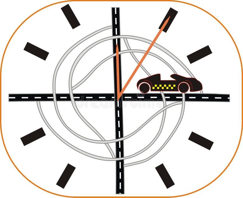 Drogowy zegarek obraz royalty free