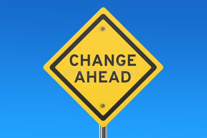 drogowy zmiana naprzód znak ilustracja wektor