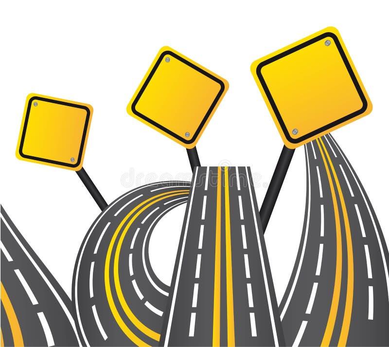 drogowy znak ilustracja wektor