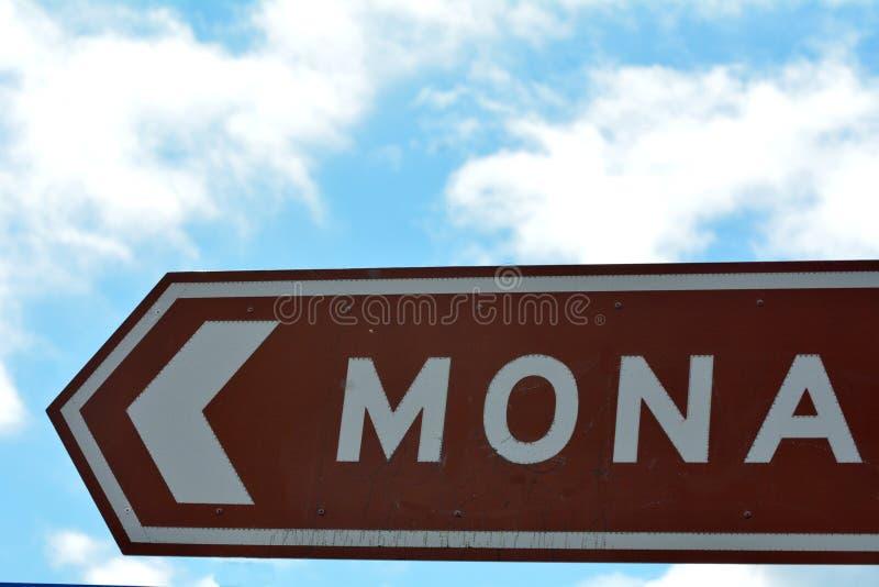 """Drogowy znak Mona †""""muzeum Stara i Nowa sztuka Hobart Tasmania Australia zdjęcia stock"""