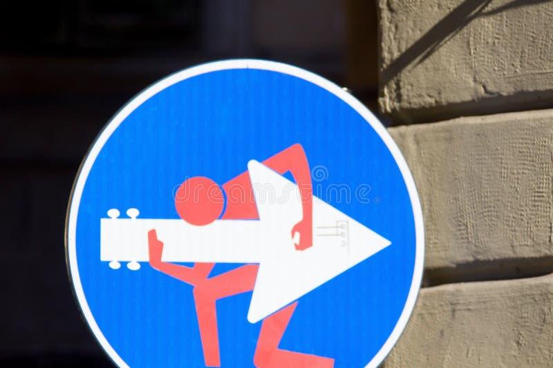 Drogowy znak, uliczna sztuka zdjęcia royalty free