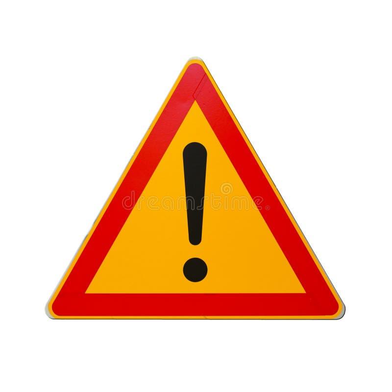 Drogowy znak z okrzyk oceną odizolowywającą na bielu fotografia stock
