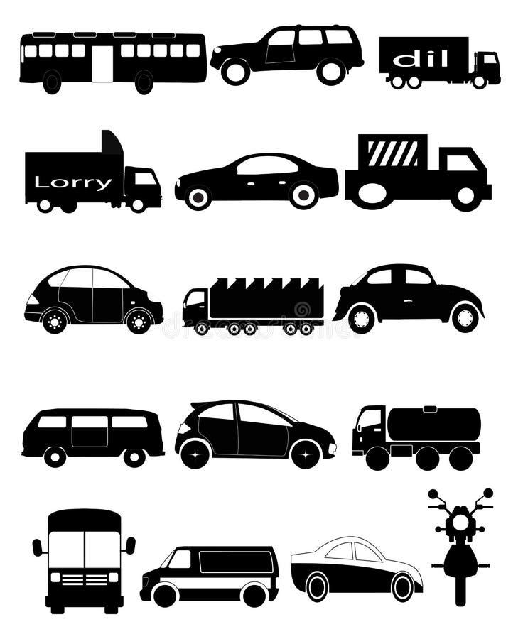 Drogowych pojazdów ikony royalty ilustracja