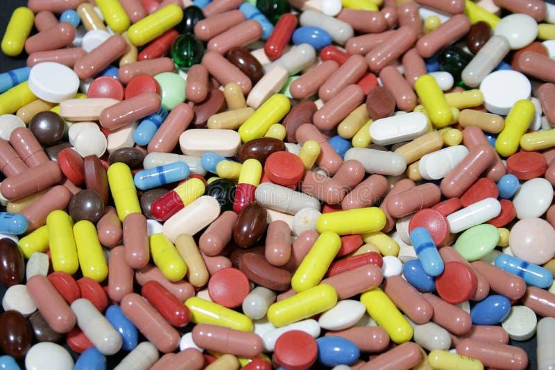 Drogues color?es photo stock