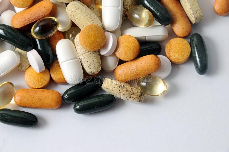 Drogues et vitamines images stock