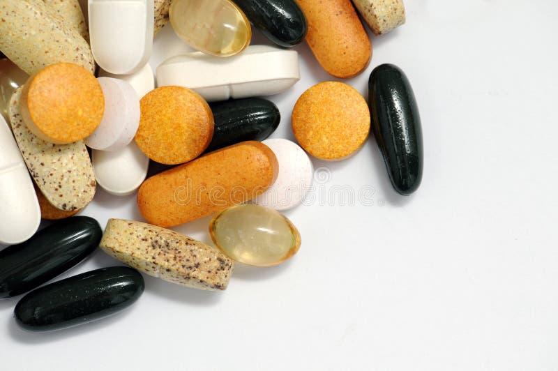 Drogues et vitamines photographie stock libre de droits