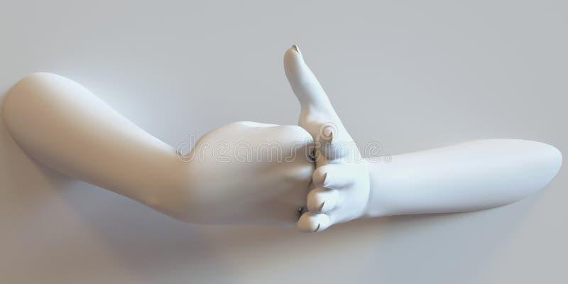 Drohende Hände stockfotografie