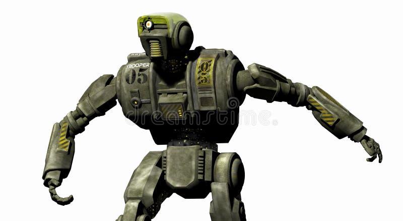 droid机器人 向量例证