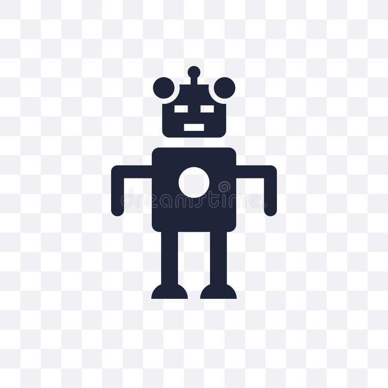 Droid透明象 Droid从科学的标志设计收集 库存例证