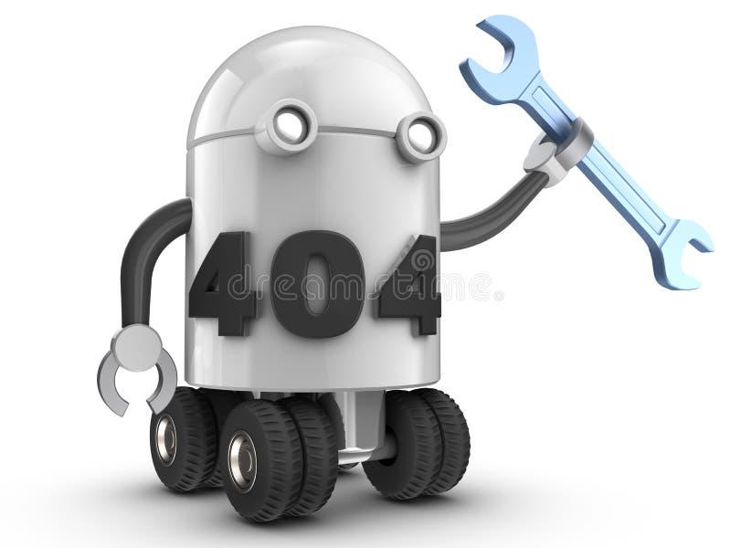 droid 3d över vit vektor illustrationer