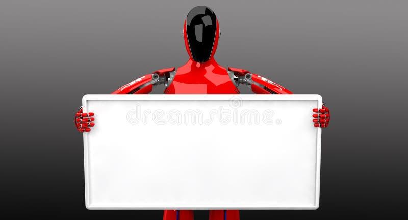 走在白色背景的Droid 库存例证